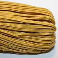 STZ0030 apie 2.5 mm, geltona spalva, sutažo juostelė, 3,3 m.