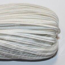 STZ0031 apie 2.5 mm, balta spalva, sutažo juostelė, 3.3 m.