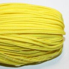 STZ0039 apie 2.5 mm, ryški, geltona spalva, sutažo juostelė, 5 m.