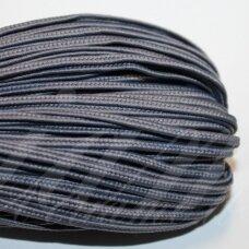 stz0075 apie 2.5 mm, tamsi, melsvai pilka spalva, sutažo juostelė, 5 m.