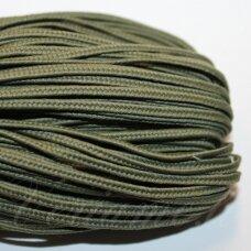 STZ0077 apie 2.5 mm, tamsi, žalia spalva, sutažo juostelė, 5 m.