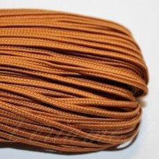 stz0080 apie 2.5 mm, šviesi, ruda spalva, sutažo juostelė, 5 m.