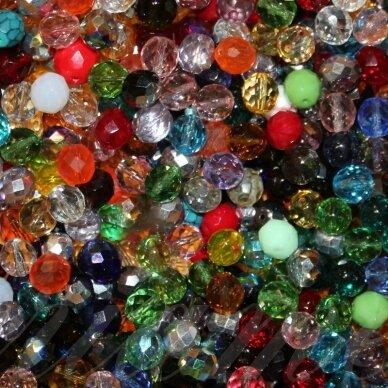 STKB-MIX12-13 apie 12 - 13 mm, apvali forma, briaunuotas, čekiškas stiklas, apie 200 gr.