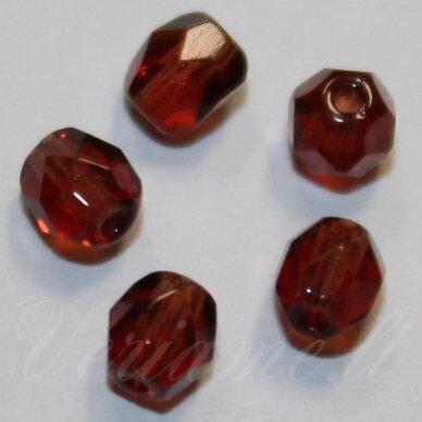 stkb00121-04 apie 4 mm, apvali forma, briaunuotas, ruda spalva, apie 110 vnt.
