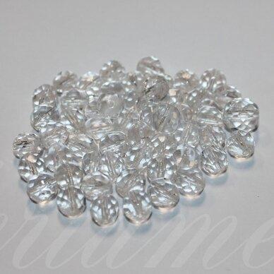 stkbmix0017, įvairių dydžių, apvali forma, briaunuotas, čekiško stiklo mišinys, 100 g.