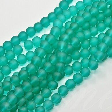 stmat0018-04 apie 4 mm, apvali forma, matinė, elektrinė spalva, stiklinis karoliukas, apie 120 vnt.