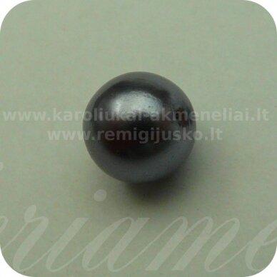 stperl0007-08 apie 8 mm, stiklinis perliukas, pilkai vyšninė spalva, apie 30 vnt.