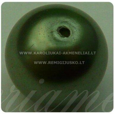 stperl0017-14 apie 14 mm, stiklinis perliukas, tamsi, samaninė spalva, 6 vnt.