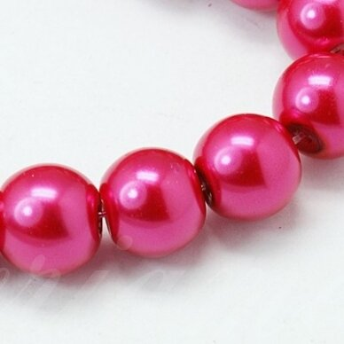 stperl0020-03 apie 3 mm, apvali forma, stiklinis perliukas, tamsi, rožinė spalva, apie 180 vnt.