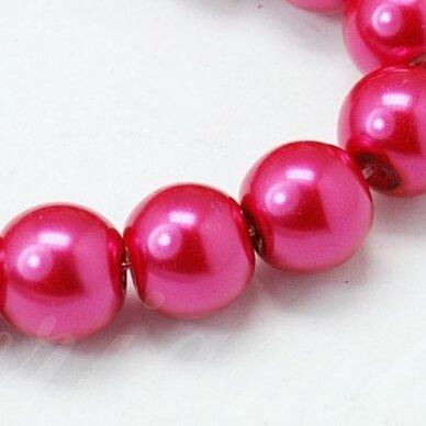 stperl0020-03 apie 3 mm, apvali forma, stiklinis perliukas, tamsi, rožinė spalva, apie 180 vnt. / x 5 pakeliai.