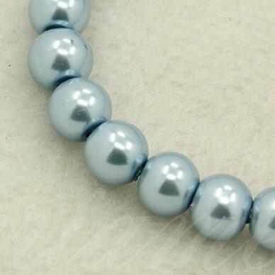 stperl0066-03 apie 3 mm, apvali forma, stiklinis perliukas, melsva spalva, apie 150 vnt.