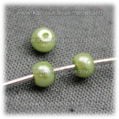 stperl0139-03 apie 3 mm, salotinė spalva, stiklinis perliukas, apie 300 vnt.