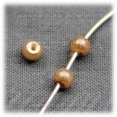 stperl0151-03 apie 3 mm, kreminė spalva, stiklinis perliukas, apie 300 vnt.