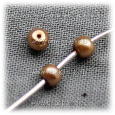 jsstperl0152-08 apie 8 mm, auksinė spalva, stiklinis perliukas, apie 100 vnt.