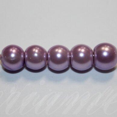 jsstperl0170-08 apie 8 mm, violetinė spalva, stiklinis perliukas, apie 100 vnt.