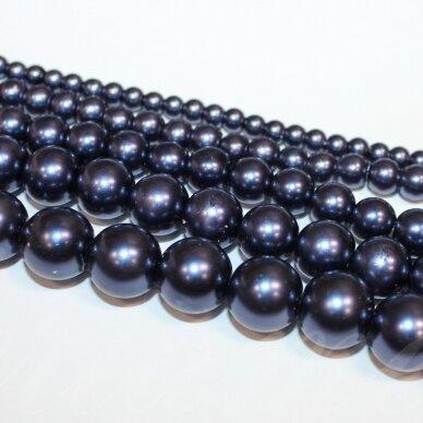 stperl0177-10 apie 10 mm, violetinė spalva, stiklinis perliukas, apie 16 vnt.