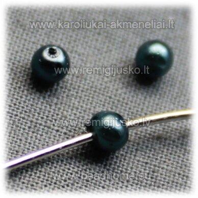 stperl0194-03 apie 3 mm, pilkai melsva spalva, stiklinis perliukas, apie 300 vnt.