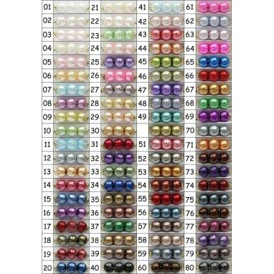 stperl0225-06 apie 6 mm, apvali forma, stiklinis perliukas, spalva pavaizduota 25 numeriu, apie 58 vnt.