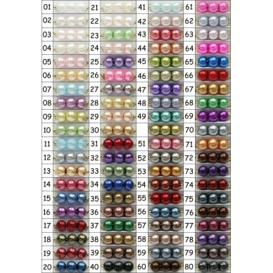 stperl0233-06 apie 6 mm, apvali forma, stiklinis perliukas, spalva pavaizduota 33 numeriu, apie 70 vnt.