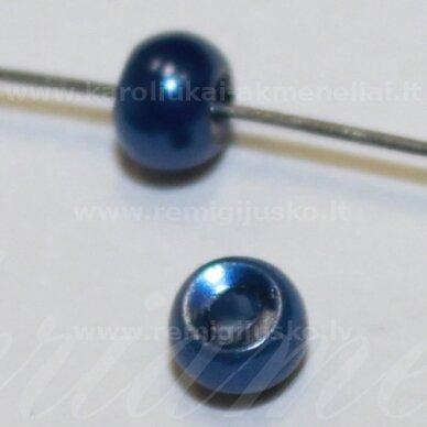 stperl0332-03 apie 3 mm, apvali forma, mėlyna spalva, apie 300 vnt.