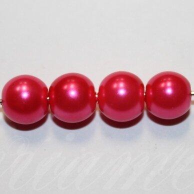 jsstperl0376-08 apie 08 mm, stiklinis perliukas, ryški, rožinė spalva, apie 100 vnt.