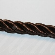 SUPERPPVGEL0038 about 3 mm, dark, brown color, twisted cord, 50 m.