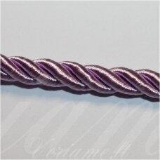 SUPERPPVGEL0041 apie 4 mm, šviesi, alyvinė spalva, sukta virvutė, 50 m.