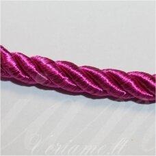 SUPERPPVGEL0045 apie 4 mm, tamsi, rožinė spalva, sukta virvutė, 50 m.