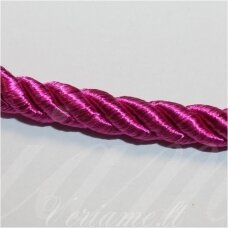 SUPERPPVGEL0045 apie 8 mm, tamsi, rožinė spalva, sukta virvutė, 20 m.