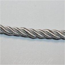 SUPERPPVGEL0047 apie 4 mm, šviesi, sidabrinė spalva, sukta virvutė, 50 m.