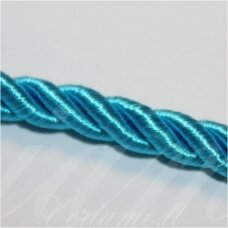 SUPERPPVGEL0051 about 8 mm, light blue color, twisted cord, 20 m.
