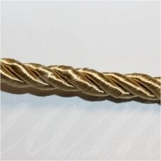 SUPERPPVGEL0053 about 6 mm, light, gold color, twisted cord, 25 m.