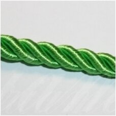 SUPERPPVGEL0063  about 8 mm, green color, twisted cord, 20 m.