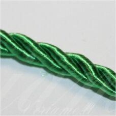 SUPERPPVGEL0065  about 8 mm, green color, twisted cord, 20 m.
