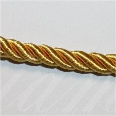 SUPERPPVGEL0146 about 6 mm, gold color, twisted cord, 25 m.