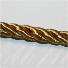 SUPERPPVGEL0147  about 6 mm, gold color, twisted cord, 25 m.