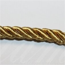 SUPERPPVGEL0156  about 6 mm, gold color, twisted cord, 25 m.