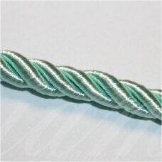 SUPERPPVGEL0159  about 6 mm, light, green color, twisted cord, 25 m.