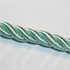 SUPERPPVGEL0159  apie 8 mm, šviesi, žalia spalva, sukta virvutė, 20 m.
