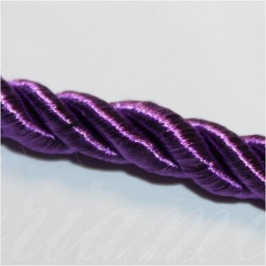 SUPERPPVGEL0135 about 8 mm, dark, purple color, twisted cord, 20 m.