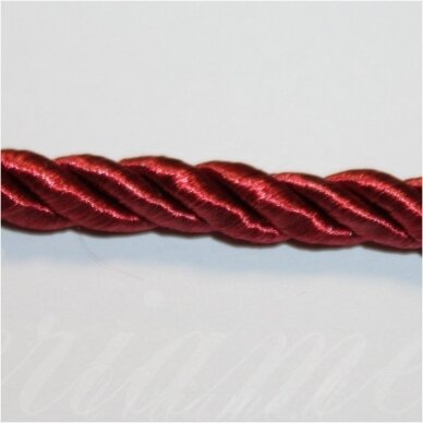 SUPERPPVGEL0177 about 6 mm, cherry color, twisted cord, 25 m.