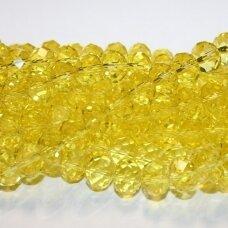 sw0023k-ron-09x12 apie 9x12 mm, rondelės forma, briaunuotas, šviesi, geltona spalva, 1 vnt.