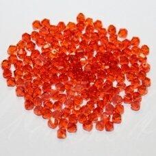 sw0325k about 3 mm, light, orange color, transparent, 10 pcs.