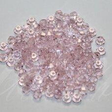 sw0328k about 3 mm, pink color, transparent, 10 pcs.