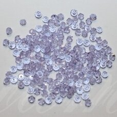 sw0334k about 3 mm, bicone shape , light, blue tint, transparent, 10 pcs.
