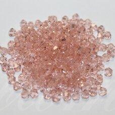 SW0336K apie 3 mm, skaidurs, šviesi rožinė spalva, 10 vnt.