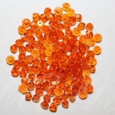 sw0369 about 3 mm, bicone shape , transparent, orange color, 10 pcs.