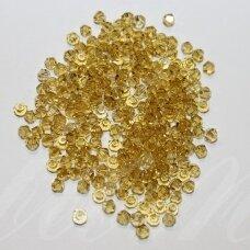 SW0405K apie 4 mm, bicone forma, geltona spalva, 10 vnt.