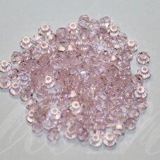 sw0428k apie 4 mm, rožinė spalva, skaidrus, 10 vnt.