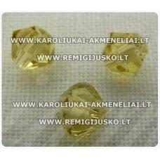 sw0505k apie 5 mm, bicone forma, geltona spalva, 10 vnt.